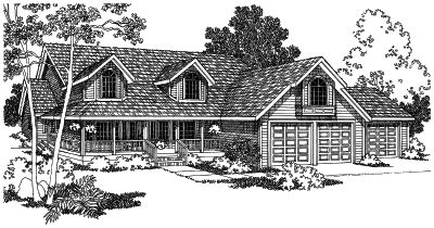 Country Style Floor Plans Plan: 17-480