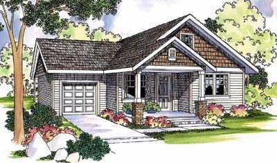 Craftsman Style Home Design 17-481