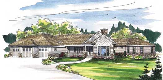 Traditional Style Home Design Plan: 17-483