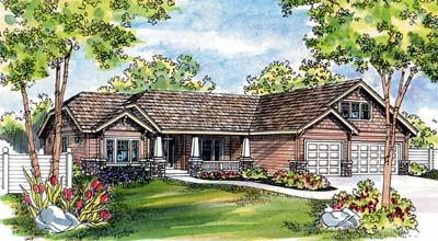 Craftsman Style Floor Plans Plan: 17-486