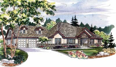 European Style House Plans Plan: 17-488