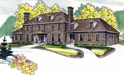 European Style Home Design Plan: 17-489