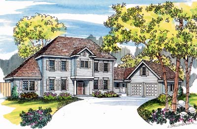 Colonial Style Floor Plans Plan: 17-490