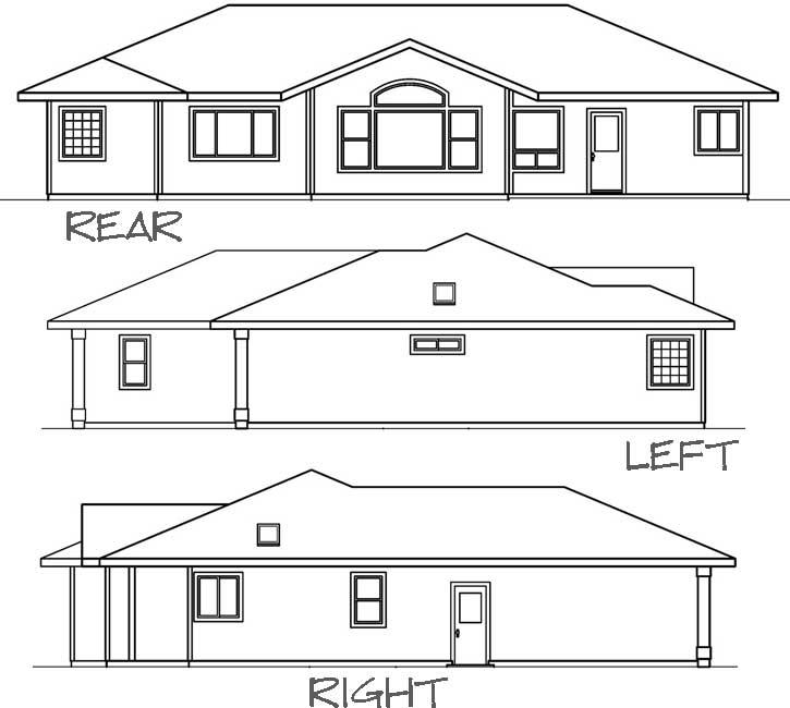 Rear Elevation Plan: 17-495