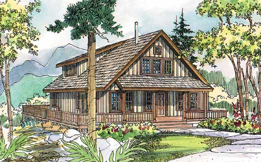 Country Style Home Design Plan: 17-500