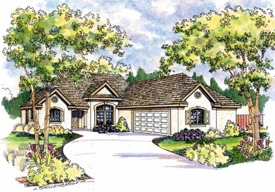 Southwest Style Floor Plans Plan: 17-503