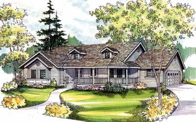 Ranch Style Floor Plans Plan: 17-507