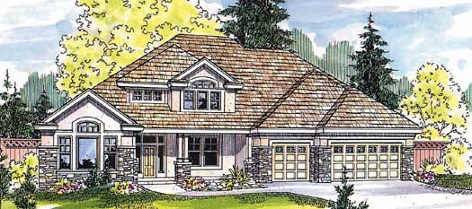 Traditional Style Home Design Plan: 17-508