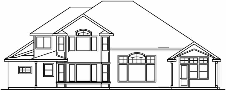 Rear Elevation Plan: 17-508