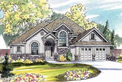 Traditional Style Home Design Plan: 17-510