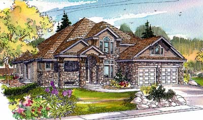 Traditional Style Home Design Plan: 17-513
