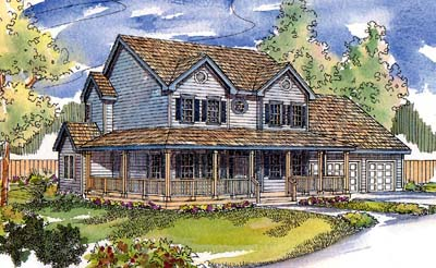 Country Style House Plans Plan: 17-515
