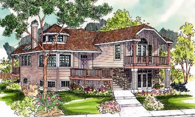 Traditional Style House Plans Plan: 17-517