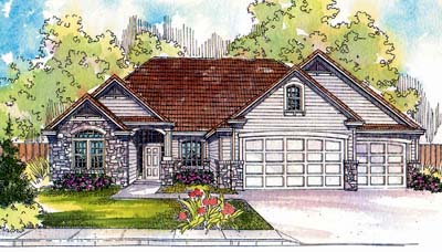 Traditional Style House Plans Plan: 17-522