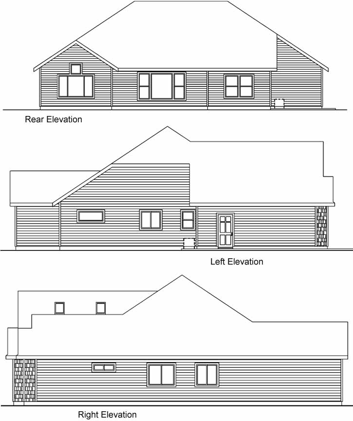 Rear Elevation Plan: 17-522