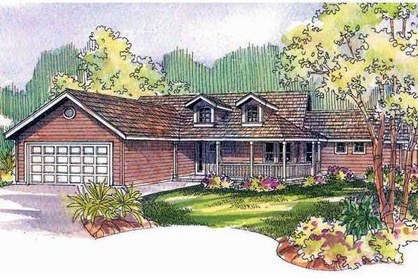 Country Style House Plans Plan: 17-523