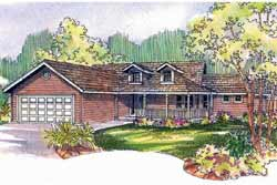 Country Style Home Design Plan: 17-523