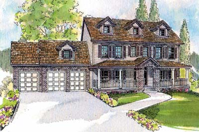 Southern-colonial Style Floor Plans Plan: 17-526