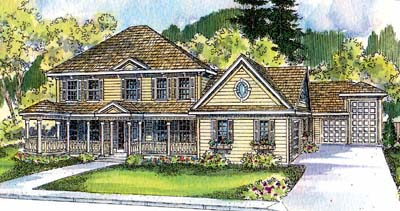 Country Style Floor Plans Plan: 17-527