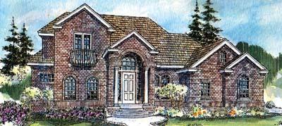 European Style Home Design Plan: 17-528