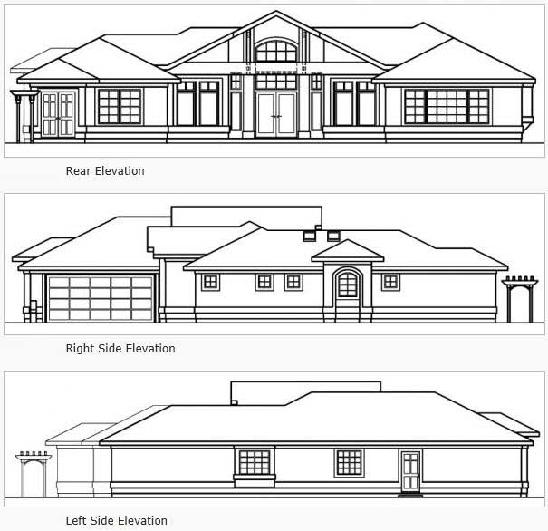 Rear Elevations Plan:17-529