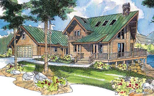 Contemporary Style Floor Plans Plan: 17-531