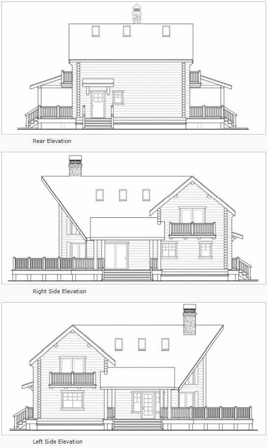 Rear Elevation Plan: 17-531