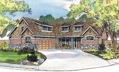 Country Style Home Design Plan: 17-532