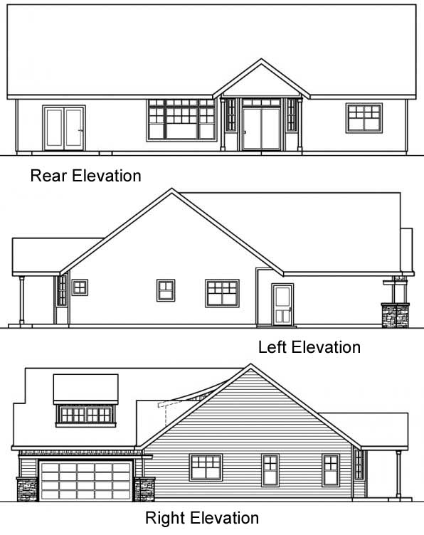 Rear Elevation Plan: 17-532