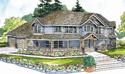 Country Style Home Design Plan: 17-535