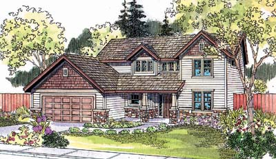 Craftsman Style Home Design Plan: 17-536