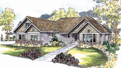 Ranch Style Home Design Plan: 17-537