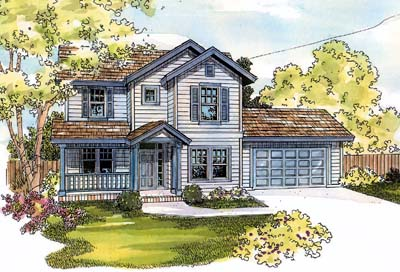 Country Style Home Design Plan: 17-539