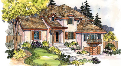 French-country Style Floor Plans Plan: 17-540