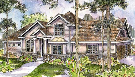 Traditional Style Home Design Plan: 17-541