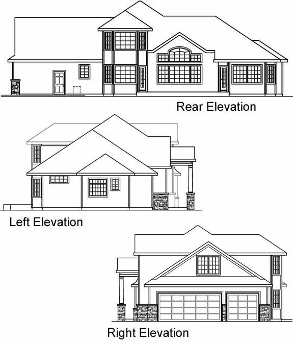 Rear Elevation Plan: 17-541