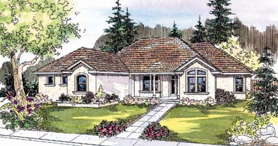 Mediterranean Style Floor Plans Plan: 17-543
