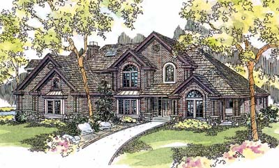 European Style Floor Plans Plan: 17-545