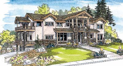 Contemporary Style House Plans Plan: 17-546