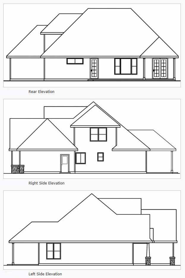 Rear Elevation Plan: 17-547