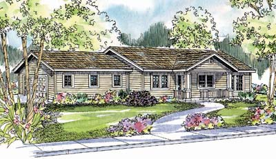 Ranch Style Home Design Plan: 17-550
