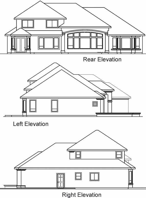 Rear Elevation Plan: 17-551