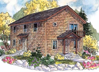 Shingle Style House Plans 17-553