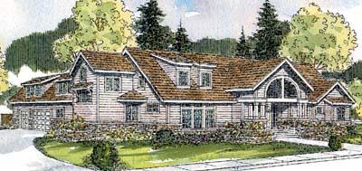 Contemporary Style Home Design Plan: 17-554