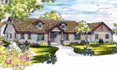 Craftsman Style Home Design Plan: 17-560