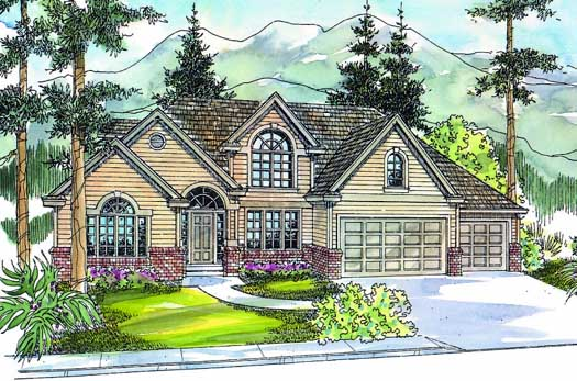 Traditional Style Home Design Plan: 17-562