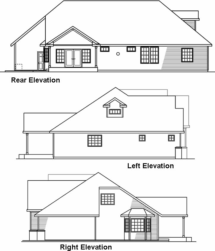 Rear Elevation Plan: 17-562