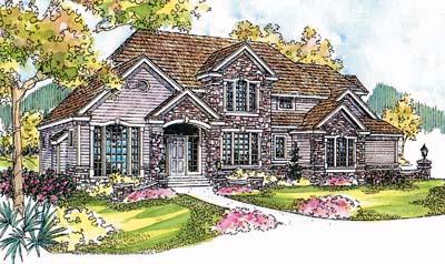 European Style House Plans Plan: 17-565