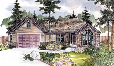 Traditional Style Home Design Plan: 17-567