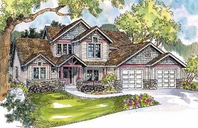 Craftsman Style Home Design Plan: 17-571